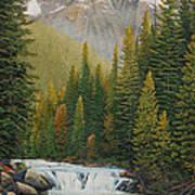 Robson River Falls Art Print
