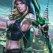 Robyn Hood Wanted 01a Art Print by Zenescope Entertainment
