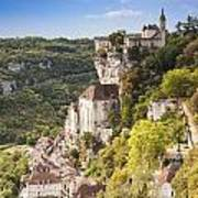 Rocamadour Midi-pyrenees France Art Print by Colin and Linda McKie
