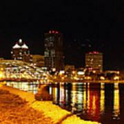 Rochester At Night Art Print