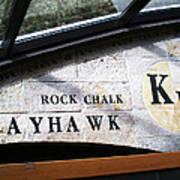 Rock Chalk Ku Art Print