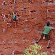 Rock Climbing 101 Art Print