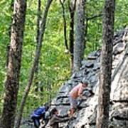 Rock Climbing Youths Art Print