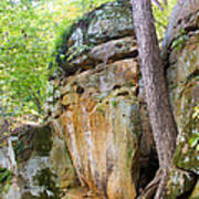 Rock Formation Wildcat Den State Park Art Print