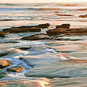 Rock Formations At Windansea Beach, La Art Print