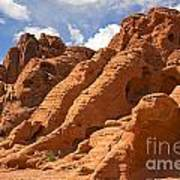 Rock Formations In The Valley Of Fire Art Print