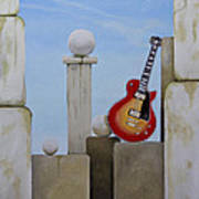 Rock Guitar Les Paul Custom Art Print