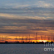 Rock Hall Sunset I Art Print