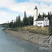 Rock Harbor Lighthouse Art Print
