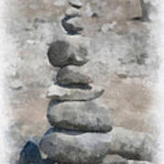 Rock Markers Photo Art 01 Art Print