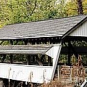 Rock Mill Covered Bridge Ohio Art Print