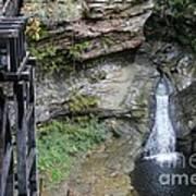 Rock Mill Water Fall In Ohio Art Print