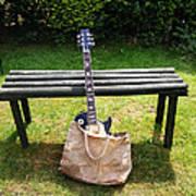 Rock N Roll Guitar In A Bag Art Print
