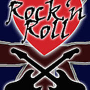 Rock N Roll Union Jack Art Print