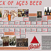 Rock Of Ages Bass Beer Timeline Art Print