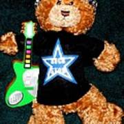 Rock Star Teddy Bear Art Print