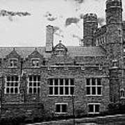Rockefeller Hall - Bryn Mawr In Black And White Art Print