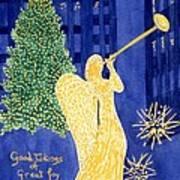Rockefeller Angel Art Print