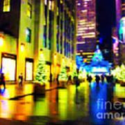 Rockefeller Center Christmas Trees - Holiday And Christmas Card Art Print