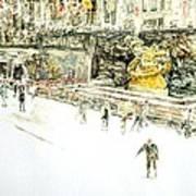 Rockefeller Center Skaters Art Print