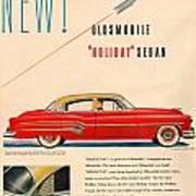 Rocket Oldsmobile Art Print