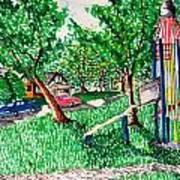 Rocket Slide Print by Jame Hayes