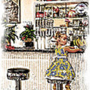 Rockin Robin's Soda Shop Art Print