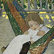 Rocking Baby Doll To Sleep Art Print