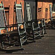 Rocking Chairs Art Print