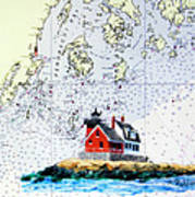 Rockland Breakwater Light Art Print