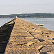 Rockland Breakwater Lighthouse Coast Of Maine Art Print