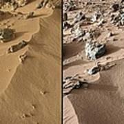 Rocknest Site, Mars, Curiosity Images Art Print