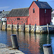 Rockport Fishing Village Art Print