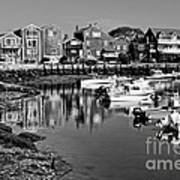 Rockport Harbor - Bw Art Print