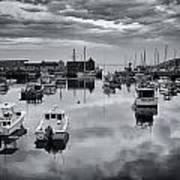Rockport Harbor View - Bw Art Print