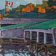 Rockport Roofs Art Print