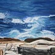 Rocks Above The Sea Art Print