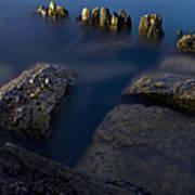 Rocks And Posts Art Print