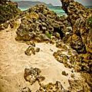 Rocks And Sand Of Elafonisi Art Print