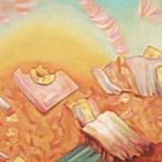 Rocks And Sunset In Desert Art Print