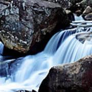 Rocks And Waterfall Art Print by Adam LeCroy