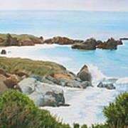 Rocks And Waves - California Coast Art Print