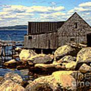 Rocks At Bay In Nova Scotia Art Print
