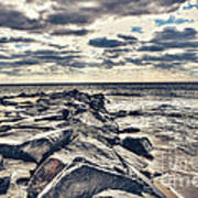 Rocks At Cape May Art Print