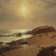 Rocks At Narragansett Art Print