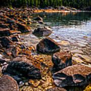 Rocks At Shore Of Georgian Bay Art Print