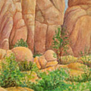 Rocks at the Granite Dells Art Print