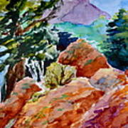 Rocks Near Red Feather Art Print