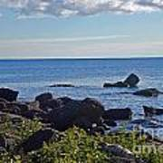 Rocks Of Lake Superior Art Print