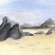 Rocks On Beach Art Print
